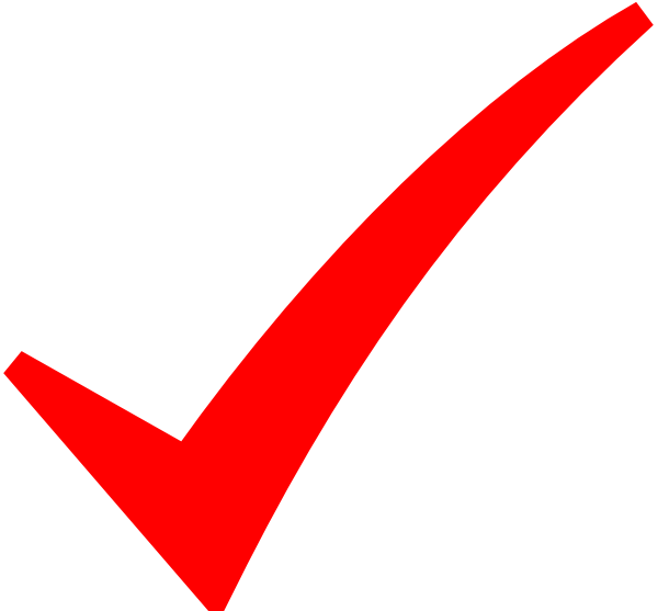 Red right tick ICON Transparent PNG (1 Images)